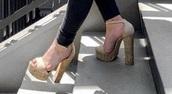 shoes,cork platforms,cork platform heels,block heel,platform heels