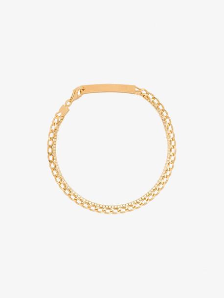 Cornelia Webb 24K gold-plated silver warped double chain bracelet