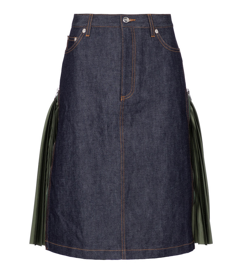 A.P.C. x sacai Mai denim skirt in blue