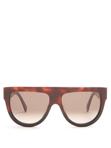 Celine Eyewear - Shadow D Frame Acetate Sunglasses - Womens - Tortoiseshell