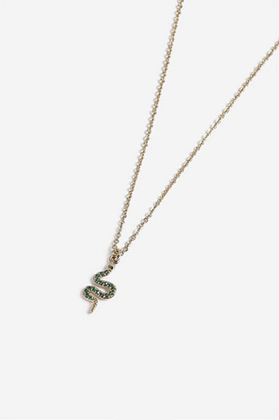 TopShop *House Of Freedom Snake Ditsy Necklace - Green