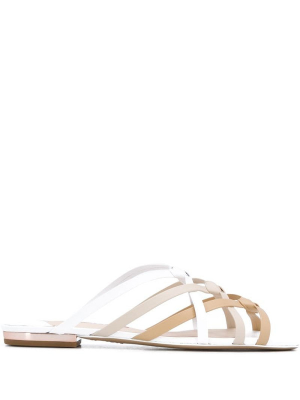 Sophia Webster Ramona strappy leather sandals in neutrals