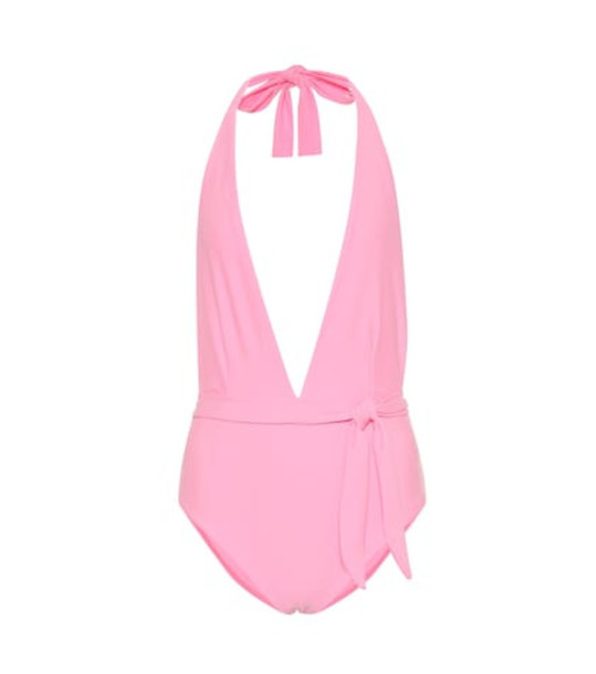 Alexandra Miro Eva halterneck swimsuit in pink