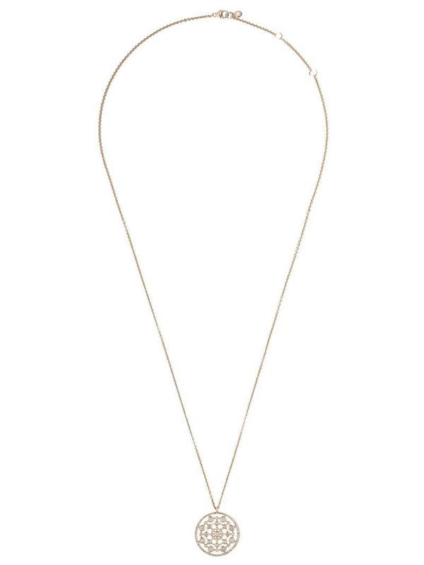 Astley Clarke 14kt gold diamond medium Icon Nova pendant necklace