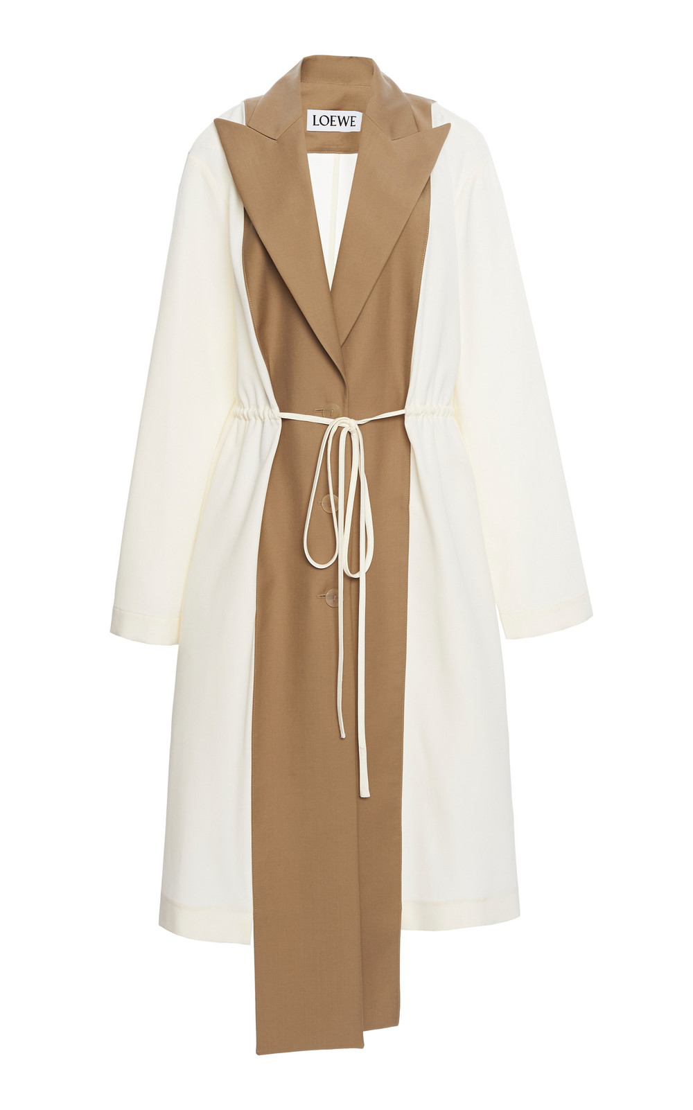 Loewe Deconstructed Belted Wool Coat Size: 34 in neutral