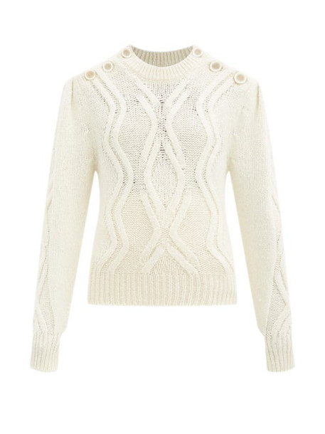 Isabel Marant - Devlyn Cable-knit Alpaca-blend Sweater - Womens - Cream