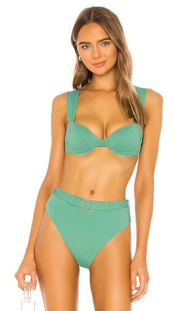 WeWoreWhat Claudia Bikini Top in Sage