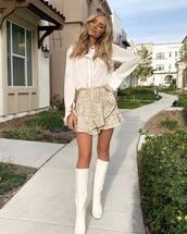 skirt,amanda  stanton,celebrity,blogger,blouse,top,mini skirt,fall outfits,instagram