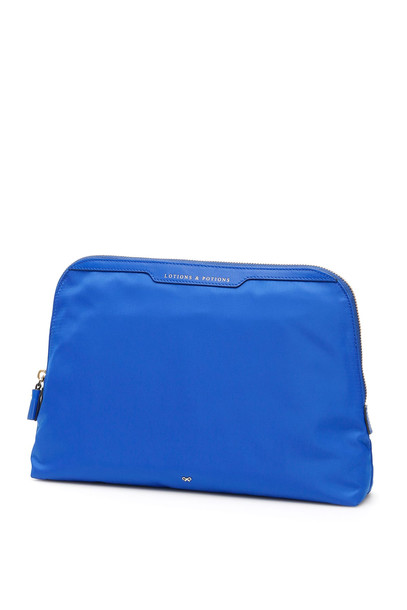 Anya Hindmarch Lotions And Potions Pouch in blue