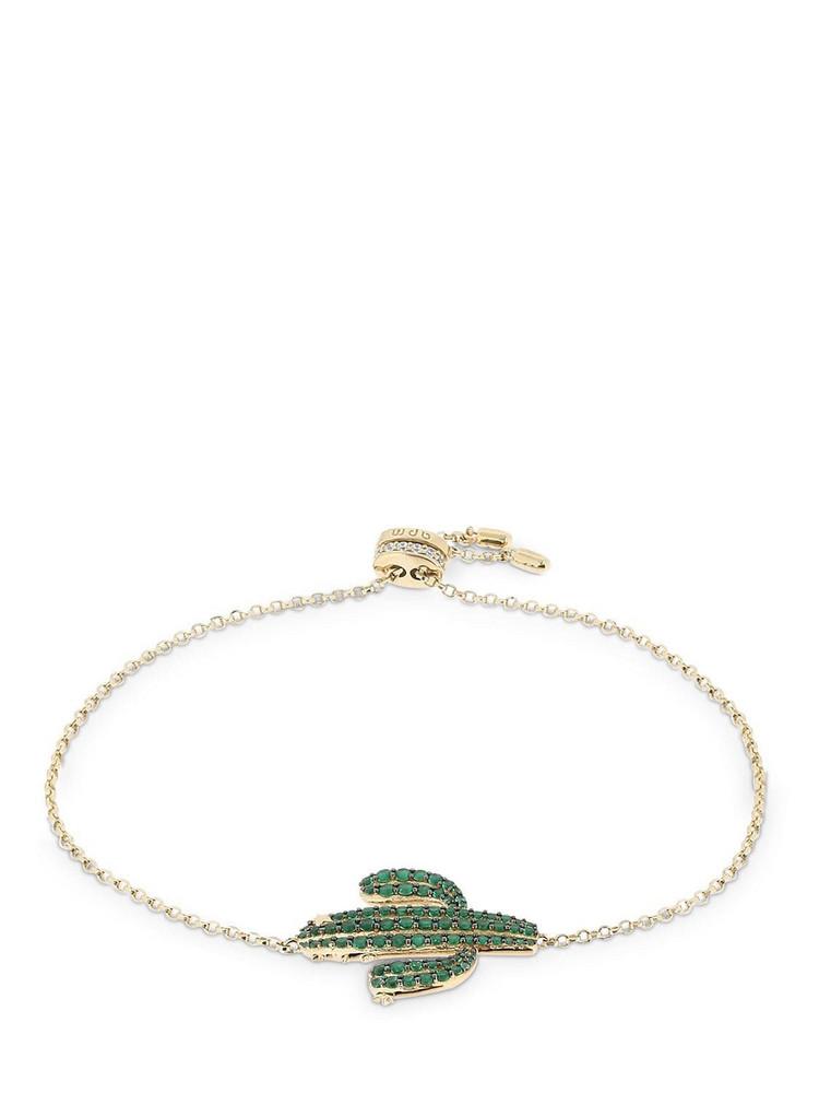 APM MONACO Silver Arc-en-ciel Cactus Bracelet in gold / green