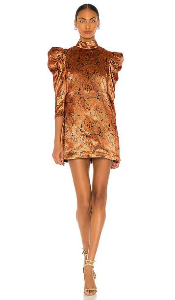 Cinq a Sept Paisley Karen Dress in Burnt Orange in multi