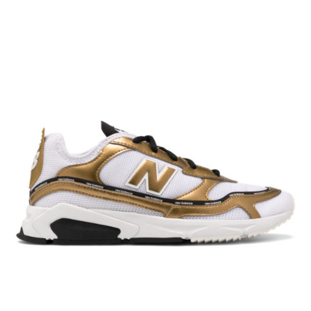 New Balance X-Racer Women's Sport Style Shoes - White/Gold (WSXRCHLD)