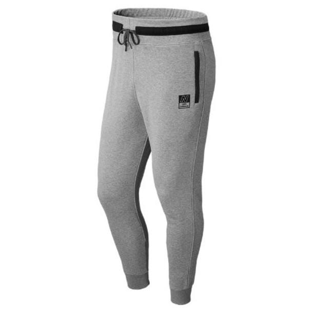 New Balance 5104 Men's NB Knit Pant - Heather Grey (AMLP5104HG)