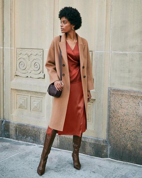 coat skirt shoes top