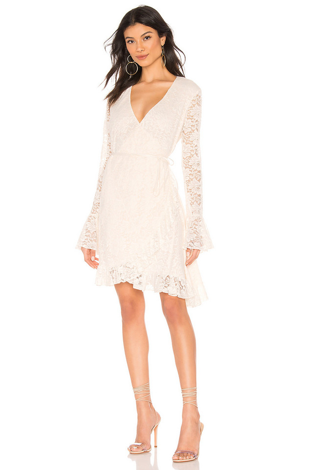 Hot As Hell Wrap Star Dress in white