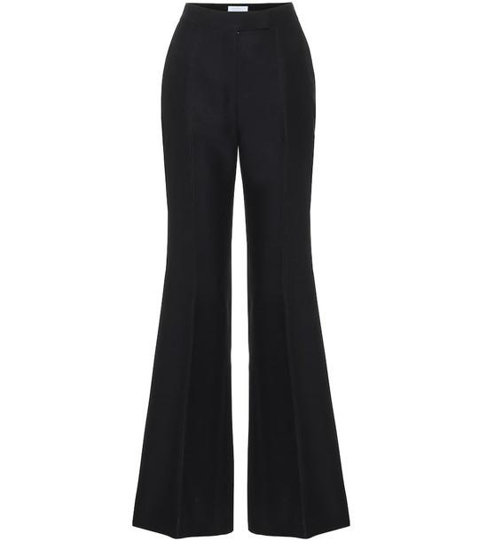 Gabriela Hearst Leda high-rise wool-blend pants in black