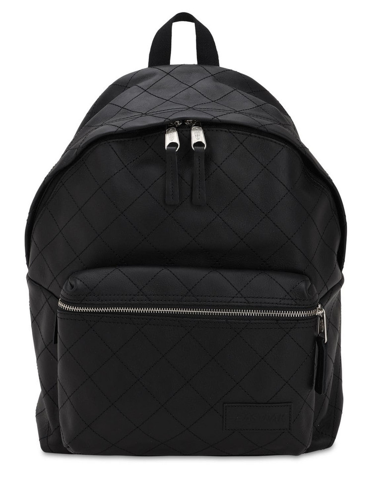 EASTPAK 24l Pak'r Quilted Leather Backpack in black