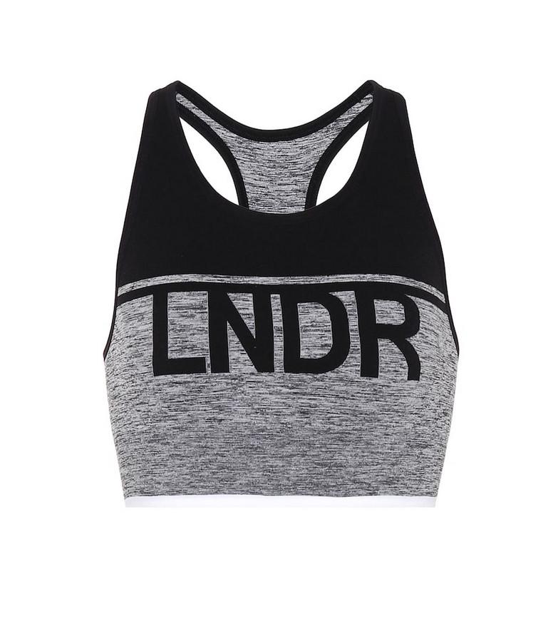 Lndr A-team sports bra in grey