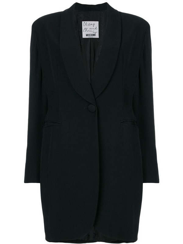 Moschino Pre-Owned shawl lapel coat in black