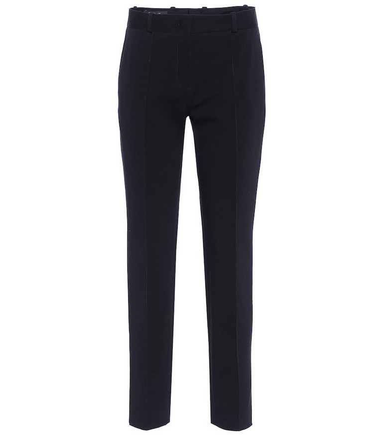 Loro Piana Mid-rise stretch-cotton pants in blue