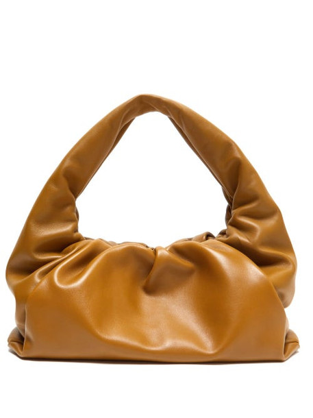 Bottega Veneta - The Shoulder Pouch Leather Bag - Womens - Tan
