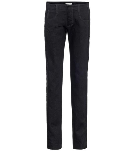Bottega Veneta Low-rise skinny jeans in black