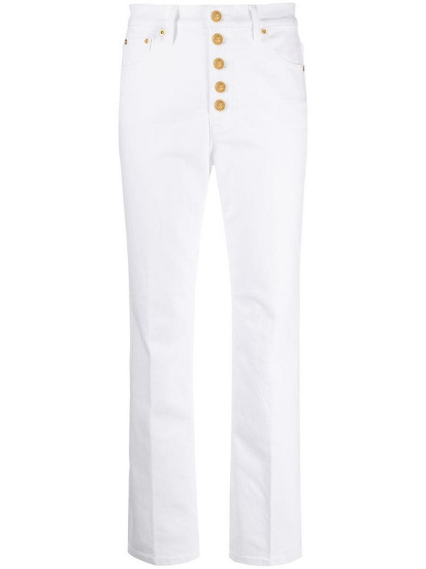 Tory Burch high-waisted slim fit jeans in white