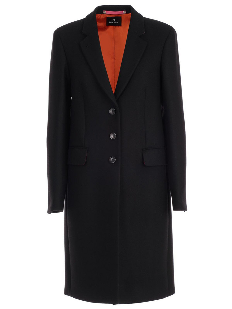 PS by Paul Smith Coat Single Breasted 3 Buttons in black