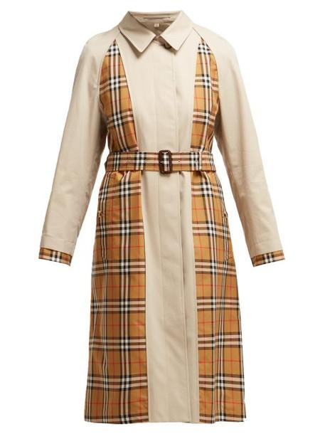 Burberry - Guiseley Inside Out Cotton Gabardine Belted Coat - Womens - Beige Multi