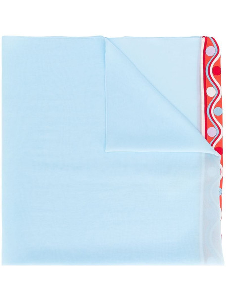 Emilio Pucci Blue Burle Print Silk Scarf