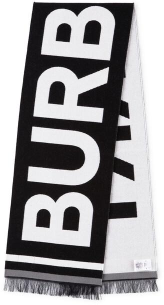 Burberry Kids Wool Jacquard Logo Scarf in black