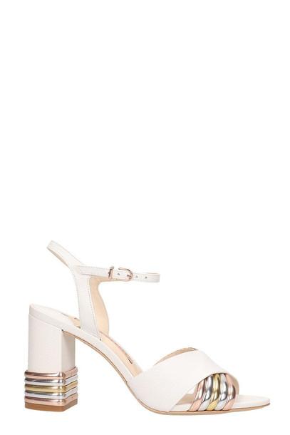 Sophia Webster Joy Mid Sandals in white