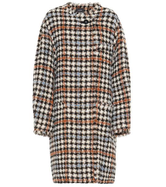 Isabel Marant Zaban tweed coat in brown