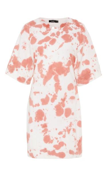 Bassike Tie-Dye Cut-Out Jersey Mini Dress in multi