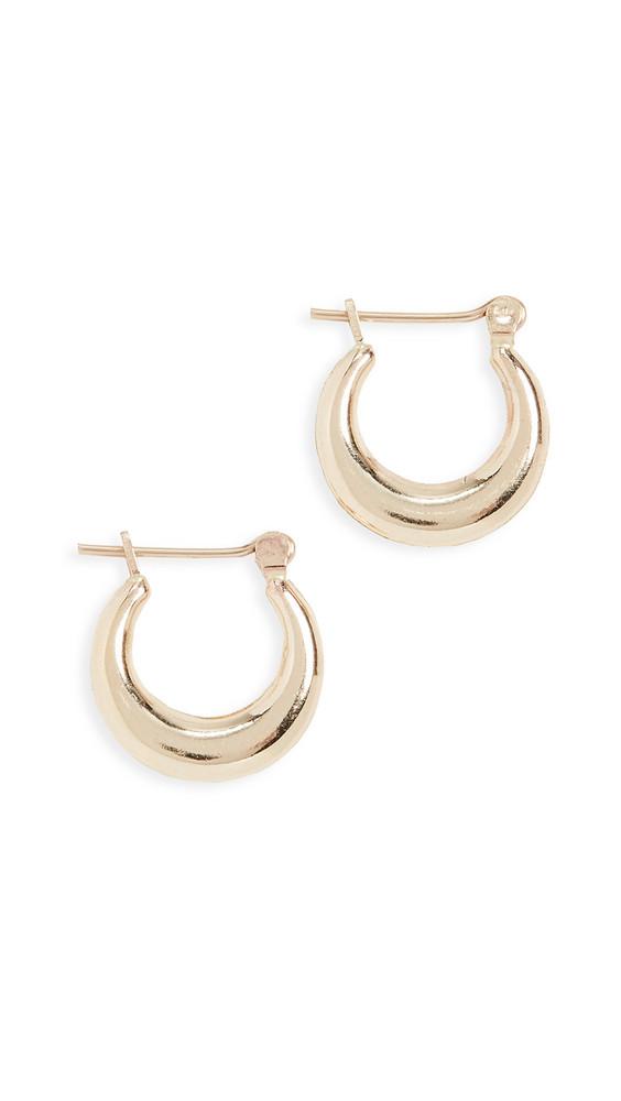 Loren Stewart Mini Pirate Hoop Earrings in gold / yellow
