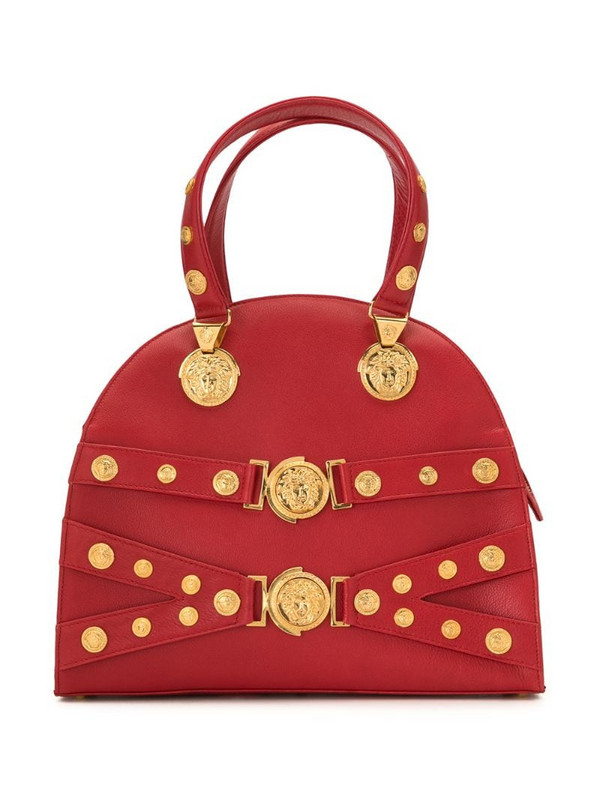 Versace Pre-Owned Medusa studded bag in red