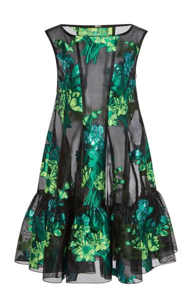 Anna Sui Kismet Jacquard Dress in green