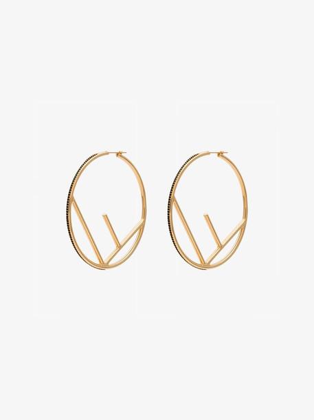 Fendi F is Fendi earrings in gold