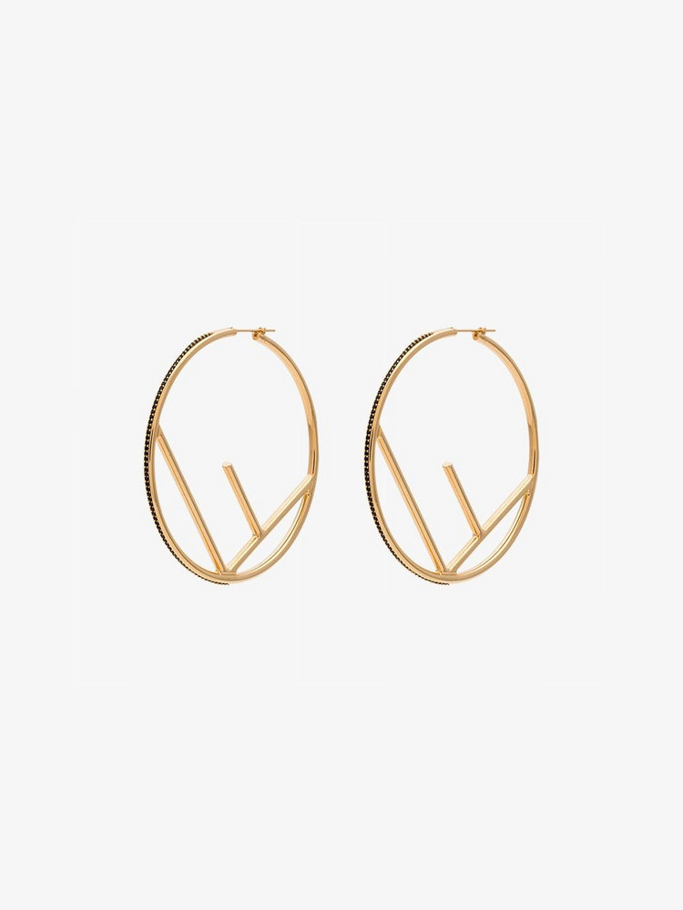 Fendi F is Fendi earrings in gold