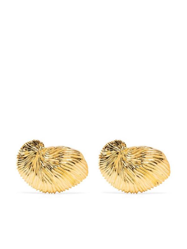 Atu Body Couture shell motif earring in gold