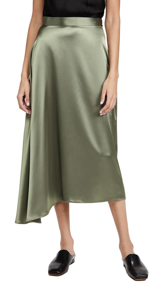 Deveaux Merel Bias Slip Skirt in grey