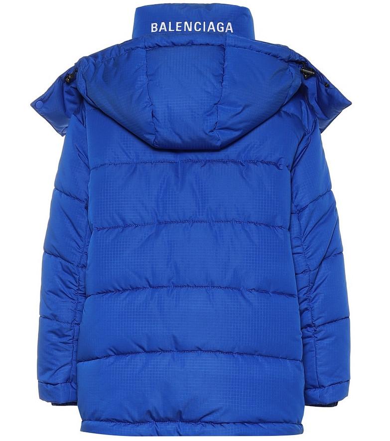 Balenciaga New Swing puffer jacket in blue