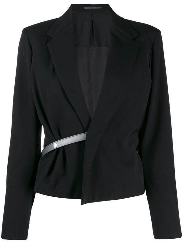 Yohji Yamamoto Pre-Owned half belt jacket in black