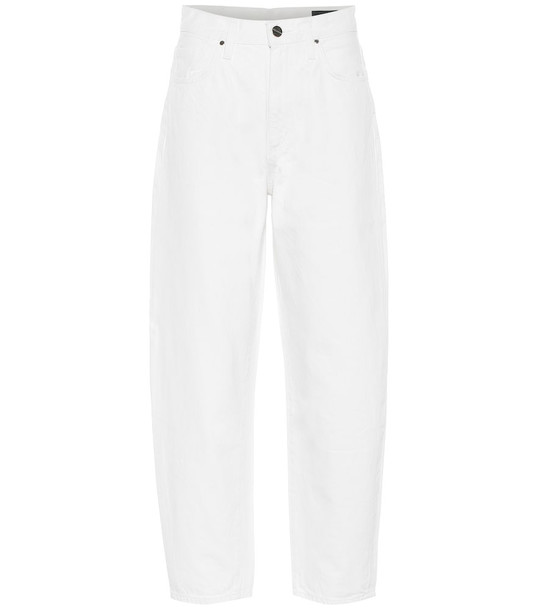 Goldsign The Curved high-rise jeans in white