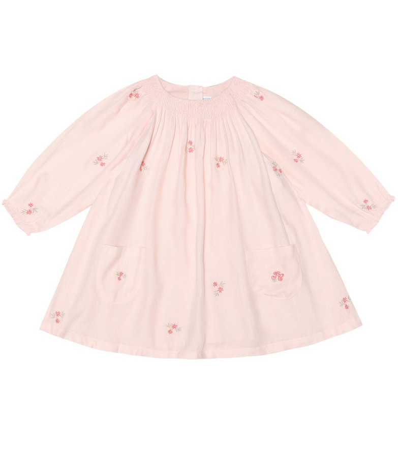Tartine et Chocolat Baby embroidered twill dress in pink