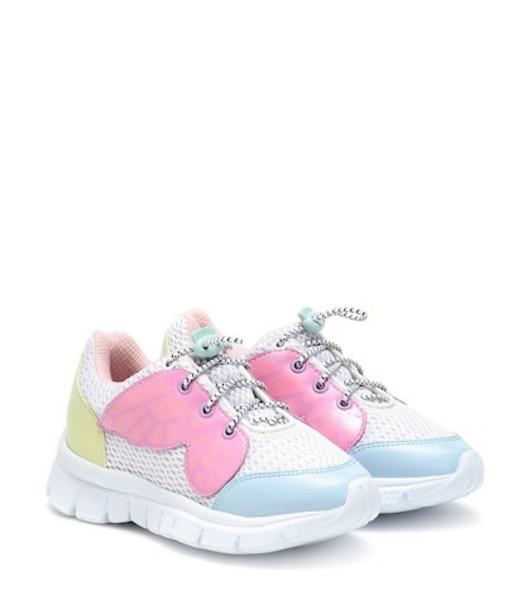 Sophia Webster Mini Chiara leather and mesh sneakers