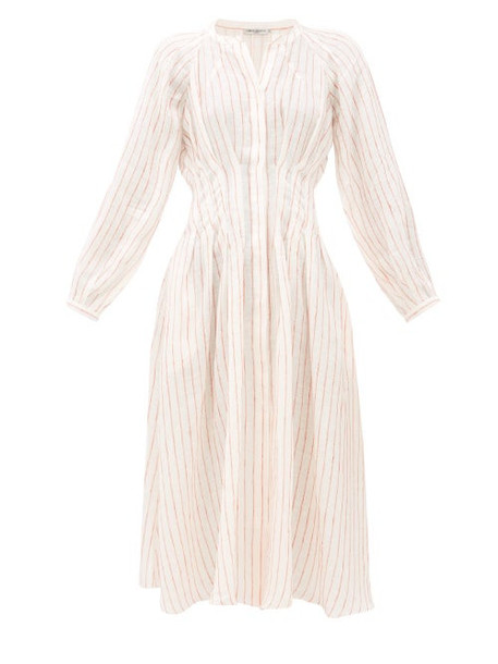 Three Graces London - Valeraine Striped Linen Dress - Womens - Cream Stripe