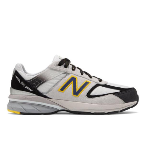 New Balance 990v5 Kids Grade School Lifestyle Shoes - Silver/Black (GC990SB5)