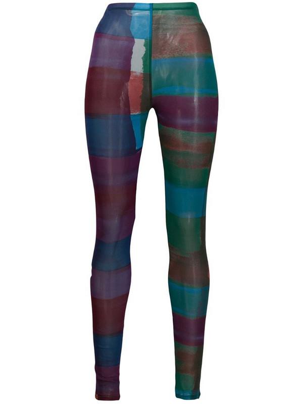 Issey Miyake Pre-Owned '2000s printed leggings in blue