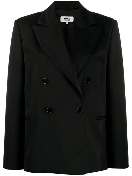 MM6 Maison Margiela double-breasted boxy-fit blazer in black